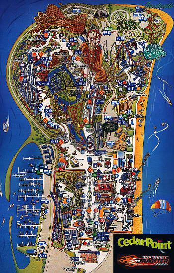 Tour The Point! Cedar Point Map on